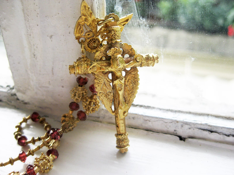 Antique crucifix from the late 1800s.